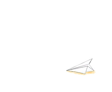 Paper plane on the ground in watercolor, illustration vector.