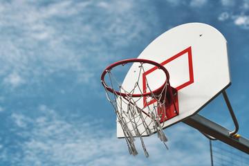 basketball hoop on the street.