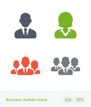 Business Avatars - Sticker Icons