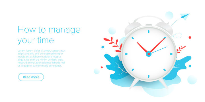 Effective time management in flat vector illustration. People working and task prioritizing organization for effective productivity. Job schedule optimization concept.