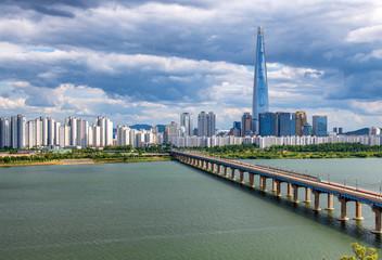 Photo sur Plexiglas Seoul view of city of seoul south korea