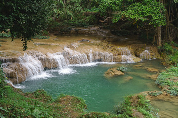 Natural waterfall in Asian country.