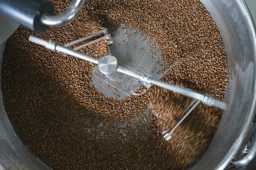 Coffee roasting machine process