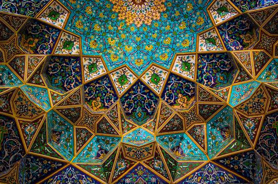 moroccan mosaic decoration. Traditional Arabic Islamic motif Background. Mosque decoration element