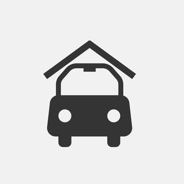 Carport vector icon illustration sign
