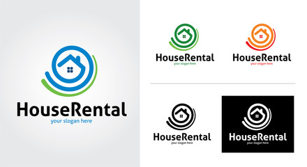House rental creative and minimal logo template