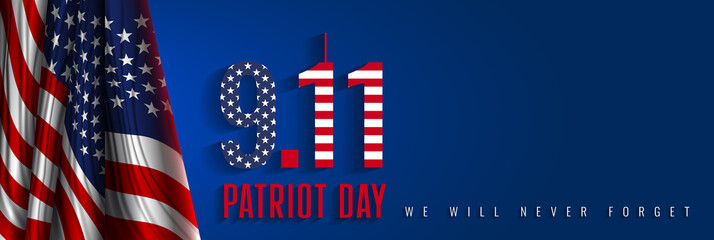 """9/11 Patriot Day, September 11. """"We Will Never Forget"""". National day of remembrance."""