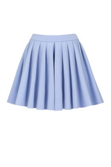 Blue skirt for girl. Isolated on a white background.