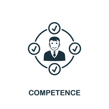 Competence vector icon symbol. Creative sign from business management icons collection. Filled flat Competence icon for computer and mobile