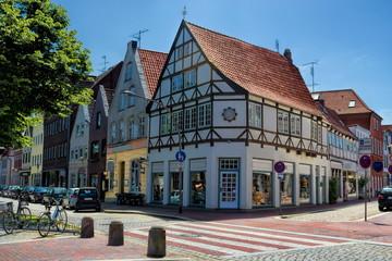 Fototapete - altstadt von glückstadt in deutschland