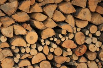 Photo sur Aluminium Texture de bois de chauffage buches