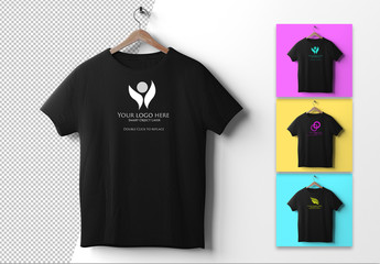 T-Shirt on Hanger Mockup