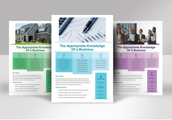 Flyer Layout with Round Shape Elements