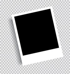 Realistic picture frame isolated background. Vector graphics