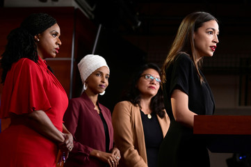 Ocasio-Cortez, Omar, Pressley and Tlaib hold news conference