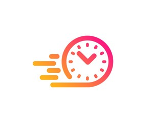 Fast delivery icon. Time sign. Classic flat style. Gradient fast delivery icon. Vector