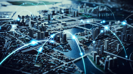 都市とネットワーク Wall mural