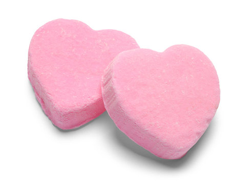 Two Pink Valentines Candy Heart