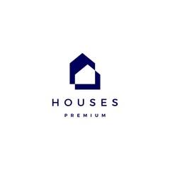 house home architect mortgage facade logo vector icon illustration