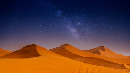 Beautiful sand dunes in the Sahara desert. Fototapete