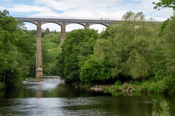 Pontcysylite Aqueduct and Dee River, Wales