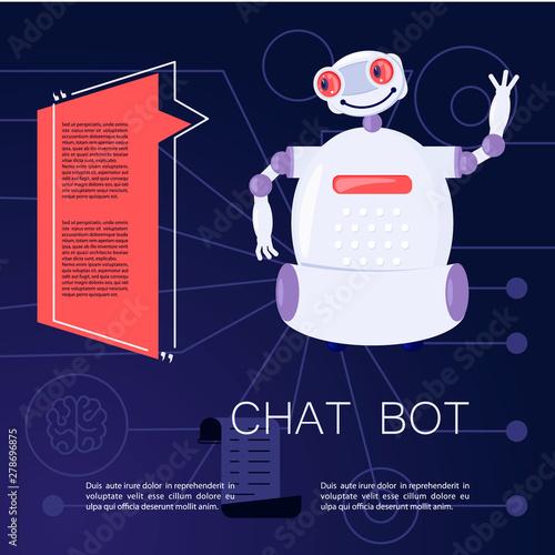 Robot Virtual Assistance Element Of Website
