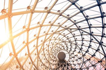 building construction of metal steel framework outdoors Fototapete
