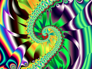 Poster de jardin Psychedelique Beautiful abstract background for art projects, cards, business, posters. 3D illustration, computer-generated fractal