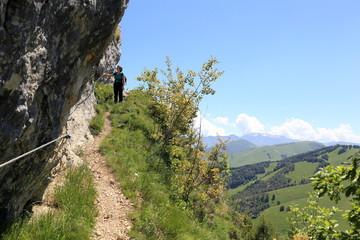 wandern am Klettersteig