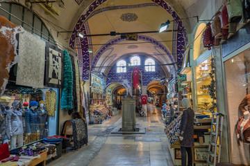 Grand Bazar interior in Istanbul, Turkey