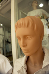 Standard woman mannequin with serious expression