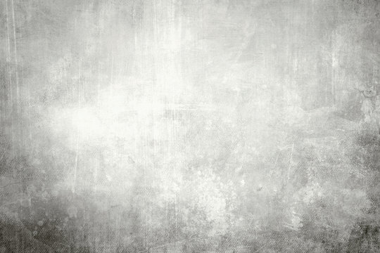 Grey grungy canvas background or texture