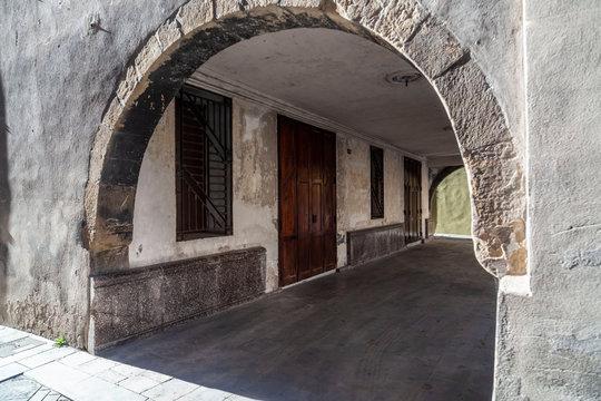 Sant Joan de les Abadesses, Catalonia, Spain. Main square village.