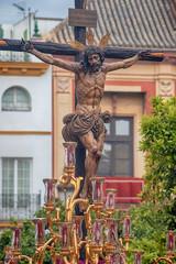 Fototapete - Hermandad de la Sed, semana santa de Sevilla, Jesús en la cruz