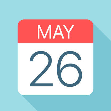May 26 - Calendar Icon. Vector illustration of one day of month