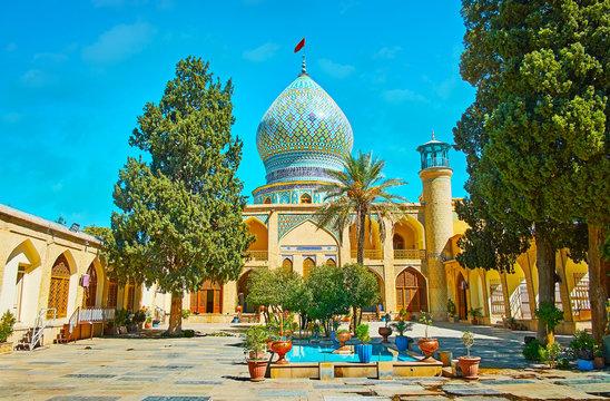 The garden of Ali Ibn Hamzeh Holy Shrine, Shiraz, Iran