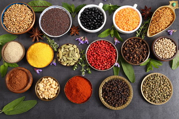 Fototapete - Indian spices.