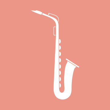 Saxophone. Classical music wind instrument.