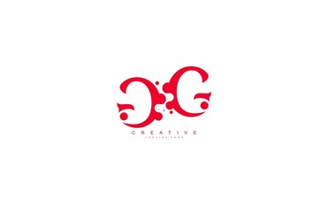 creative letter GG with dots shape trendy abstract logo design