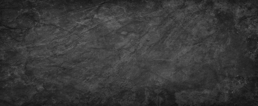 Black background texture, abstract charcoal gray paper with old vintage grunge textured design