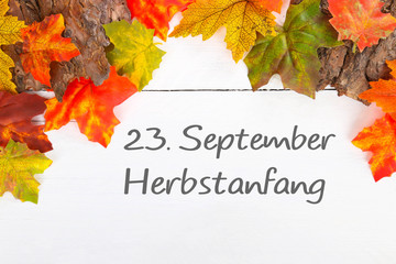 23. September Herbstanfang