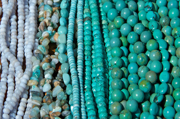 Turquoise colored rock beads