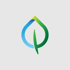 Stylized leaf or drop icon