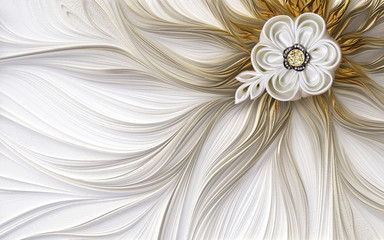 3d mural wallpaper decoration Abstract fractal fantastic flower background