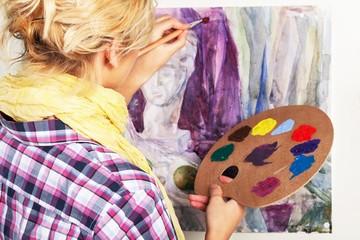 Female Painter Painting