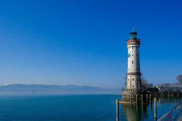 Lighthouse at Lake Constance, Lindau, Bavaria, Germany