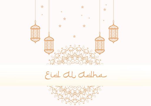 celebration moslem eid al adha islamic background