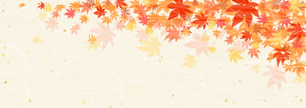 紅葉 和紙風テクスチャ