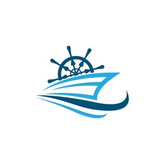 Cruise ship symbol illustration