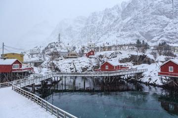A i Lofoten village on Lofoten Islands